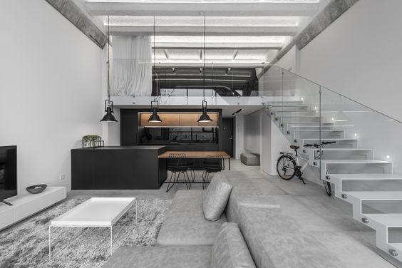 Decoração loft minimalista
