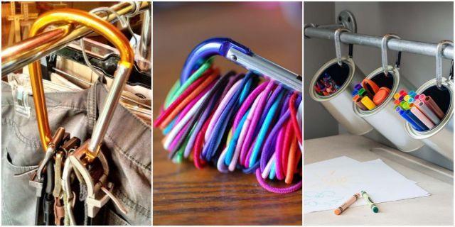 9 formas incríveis de se organizar com mosquetões!