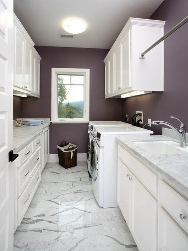 purple laundry room