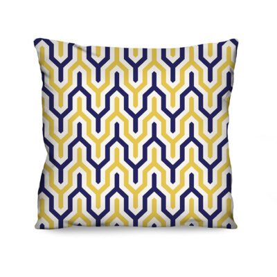 Almofada Estampada Connect Amarela e Azul
