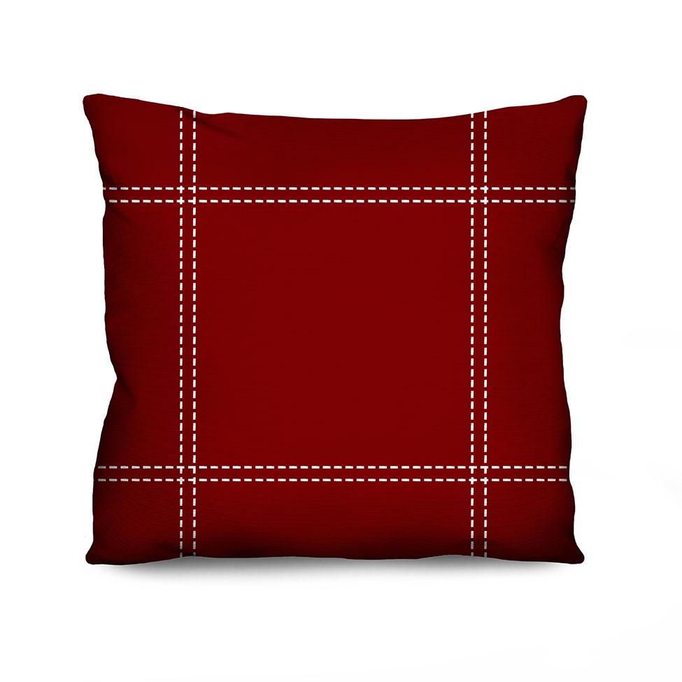 Almofada Estampada Sewed Vermelha