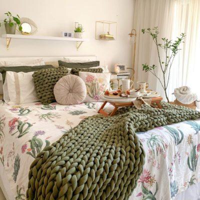 Almofada Tricot Cotton Areia