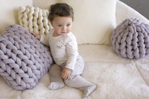 Almofada Tricot Cotton Cinza