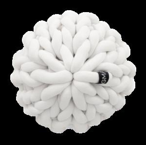Almofada Tricot Cotton Flor Branca