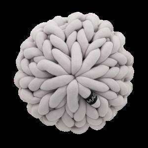 Almofada Tricot Cotton Flor Cinza