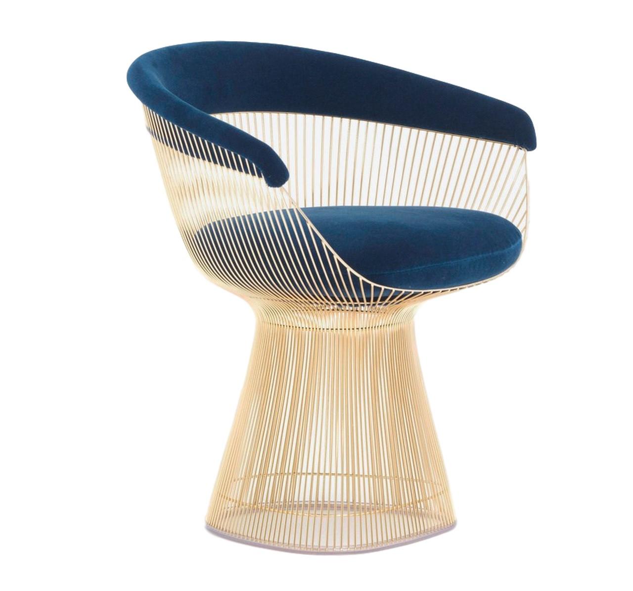 Cadeira Warren Platner Dourada