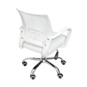 Cadeira de Escritório Baixa Branca Mônaco