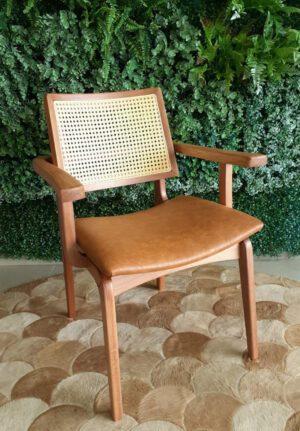 Cadeira de Jantar Berlim Tela Portuguesa com braço