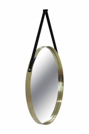 Espelho Redondo Horus Dourado