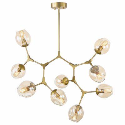 Luminária Pendente de Teto DNA Dourado