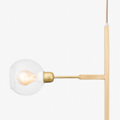 Luminária Pendente de Teto Two Dourada