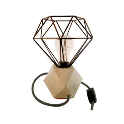 Luminária de Mesa Grade Diamante