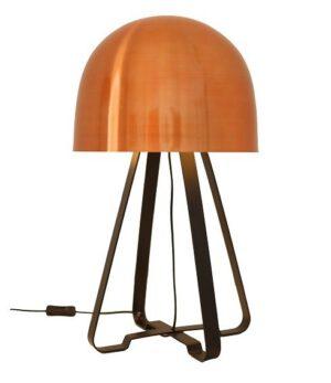 Luminária de Mesa Redonda Cobre Cogumelo