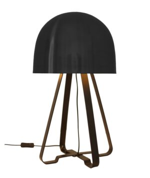 Luminária de Mesa Redonda Preta Cogumelo