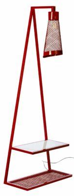 Luminária de Piso em Ferro com Cabideiro Vermelho Hanouver