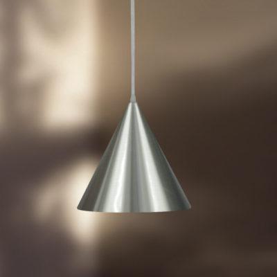 Luminária de Teto Pendente Cone Prata