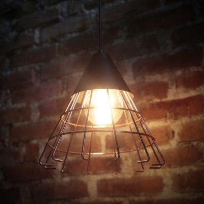Luminária de Teto Pendente Cony Cobre