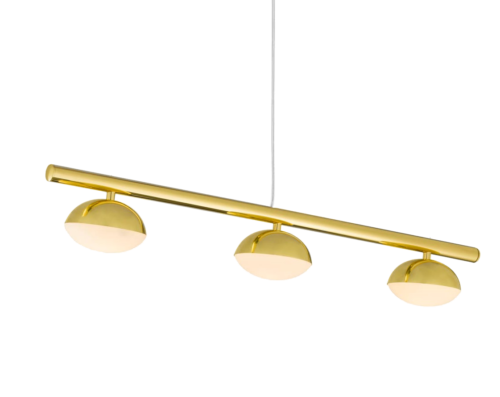 Luminária de Teto Pendente Dourada Avelã 3