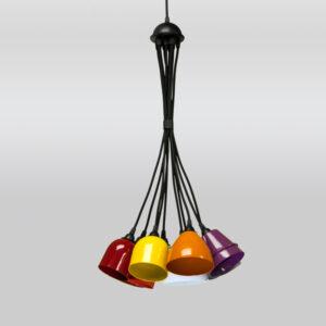 Luminária de Teto Pendente Mix Cacho Colorido