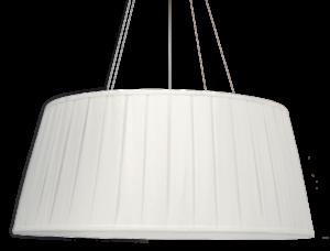 Luminária de Teto Pendente Seda Plissada Branca
