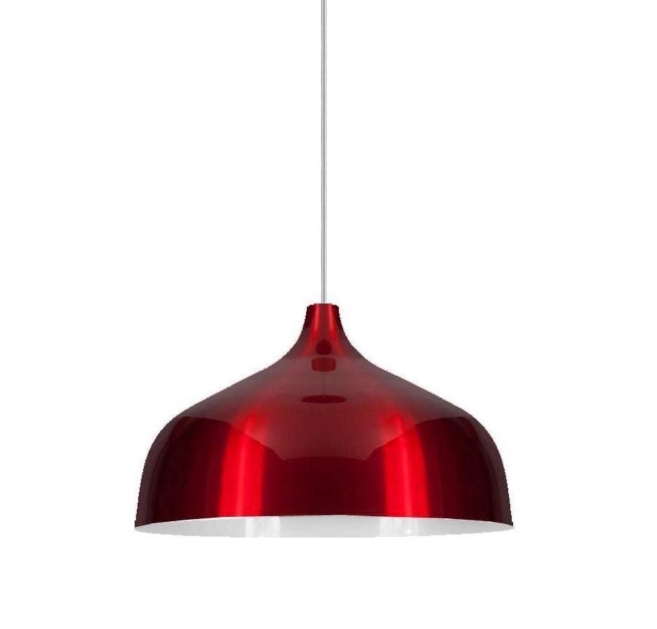 Luminária de Teto Pendente Vermelha Kath