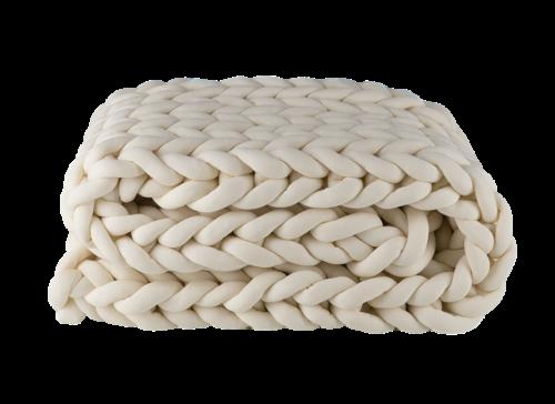 Manta Peseira Tricot em Cotton Areia