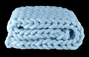 Manta Peseira Tricot em Cotton Azul