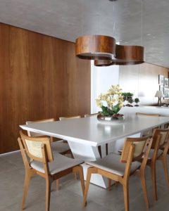 Mesa de Jantar Retangular Napoli Branca