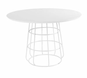 Mesa de Jantar Redonda Coliseu Branca