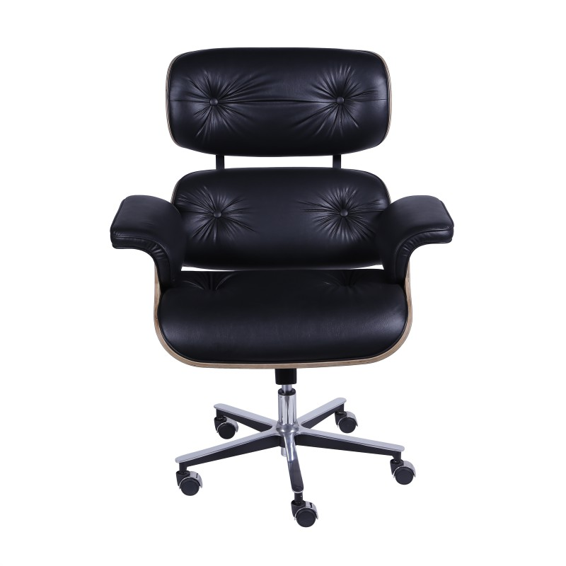 Poltrona Charles Eames Office em Couro Natural