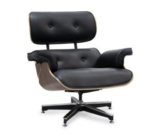 Poltrona Charles Eames em Couro Natural
