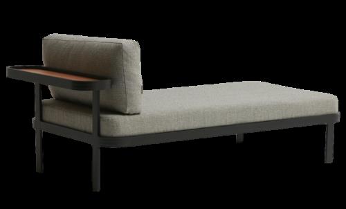 Sofá Chaise para Área Externa sem Encosto Tab