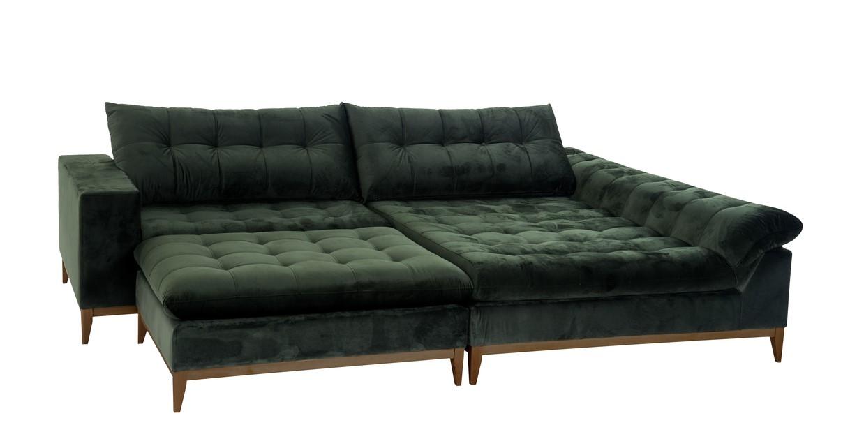 Sofá com Chaise e Puff Payol