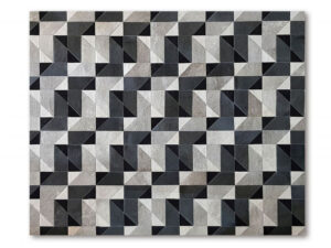 Tapete de Couro Mosaico Cinza Amalfi
