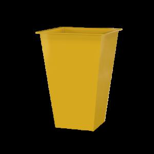 Vaso Alto Quadrado Amarelo Oka