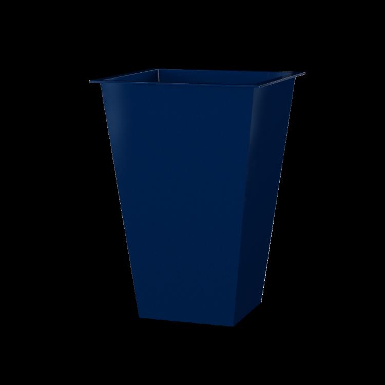 Vaso Alto Quadrado Azul Oka