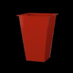 Vaso Alto Quadrado Vermelho Oka