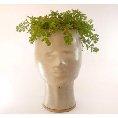 Vaso para Plantas Concrete Face
