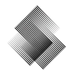 Quadro Abstrato Preto e Branco Maya