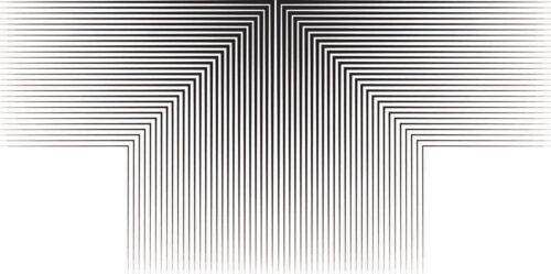 Quadro Abstrato Preto e Branco Leah