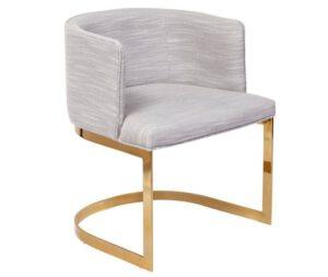Cadeira com Base Gold Sophia