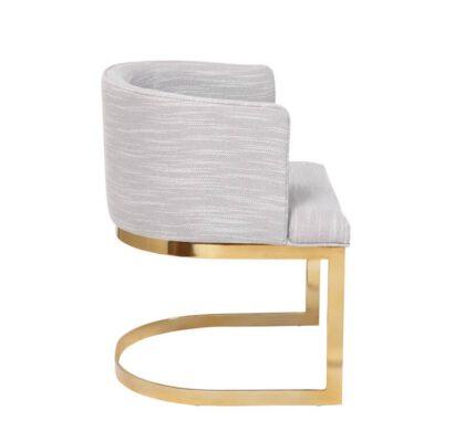Cadeira com Base Cromada Sophia