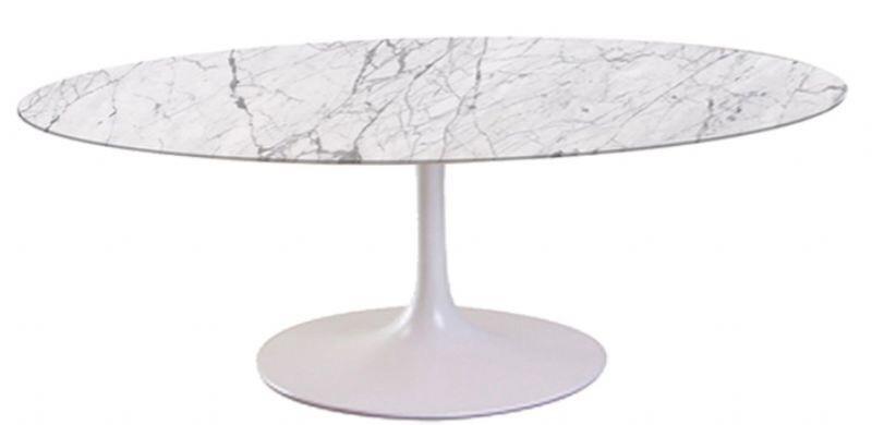 Mesa de Jantar Saarinen Oval Mármore Carrara