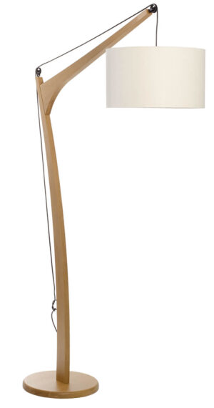 Luminária de Piso Castanho Nieck