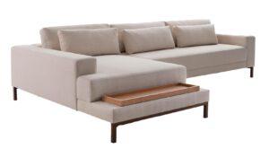 Sofá com Chaise e Mesa Bartô