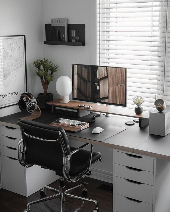 como montar home office no quarto