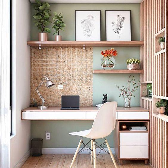 home office quarto prateleira