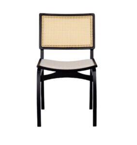 Cadeira de Jantar Ebanizada com Tela Boston