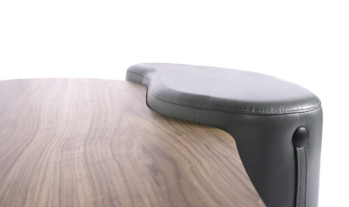 Mesa de Centro com Puff Major Couro